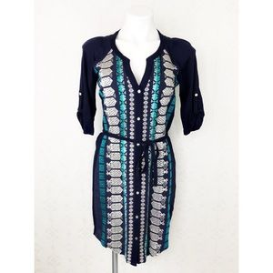 💜Anthropologie TINY Blue Embroidered Nadia Dress